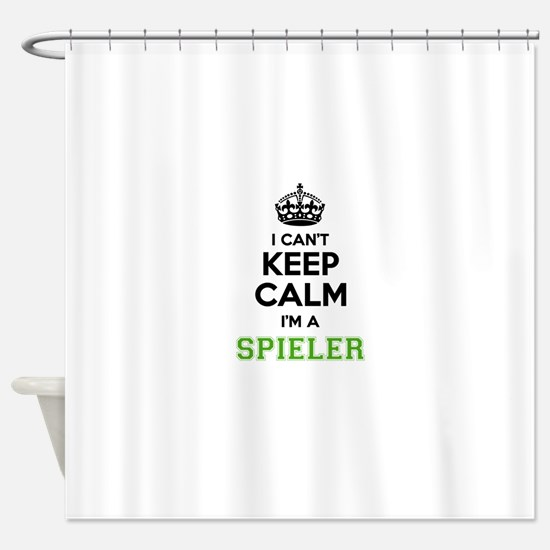 SPIELER I cant keeep calm Shower Curtain