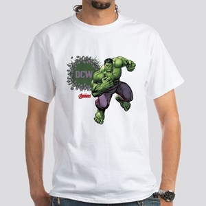 Hulk Monogram Personalized White T-Shirt