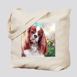 Cavalier King Charles Spaniel Painting Tote Bag