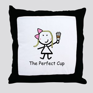 Coffee - Perfect Cup Throw Pillow