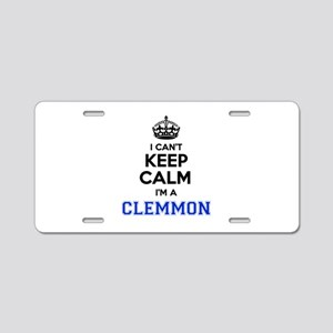 I can't keep calm Im CLEMMO Aluminum License Plate