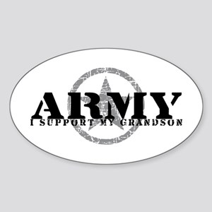 Army - I Support My Granson Oval Sticker