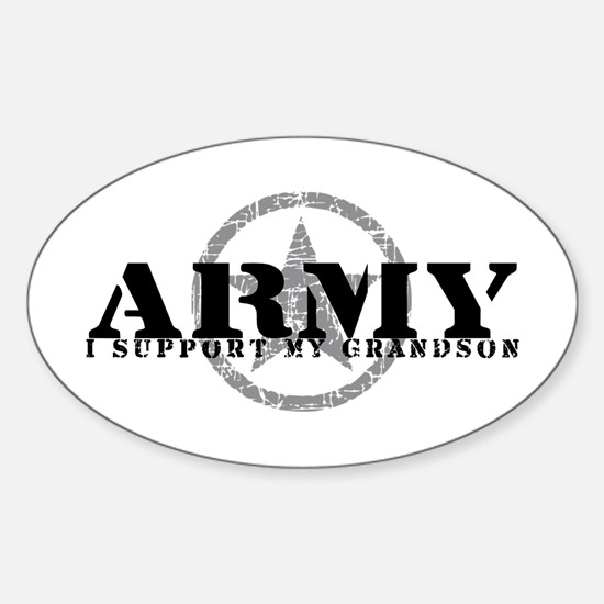 Army - I Support My Granson Oval Decal