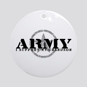 Army - I Support My Granson Ornament (Round)