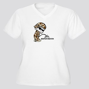 Pisser Women's Plus Size V-Neck T-Shirt