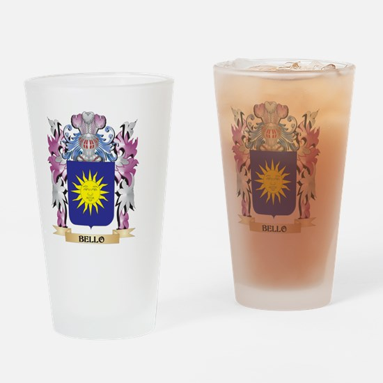 Bello Coat of Arms (Family Crest) Drinking Glass