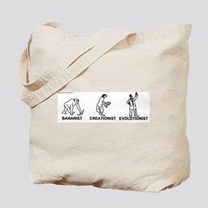 Bananist/Creationist/Evolutio Tote Bag