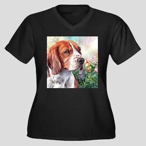 Beagle Painting Plus Size T-Shirt