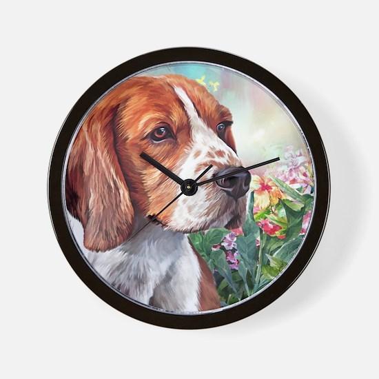 Beagle Painting Wall Clock