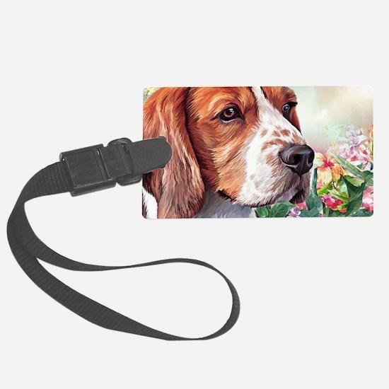 Beagle Painting Luggage Tag