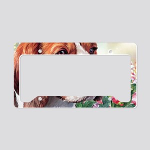 Beagle Painting License Plate Holder