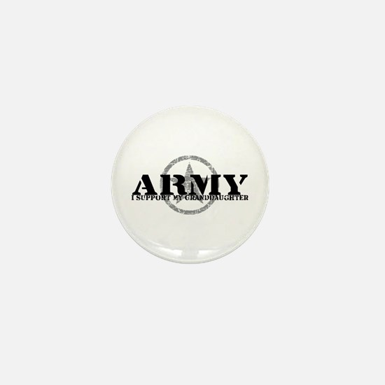 Army - I Support My Granddaughter Mini Button