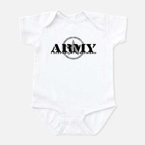 Army - I Support My Girlfriend Infant Bodysuit