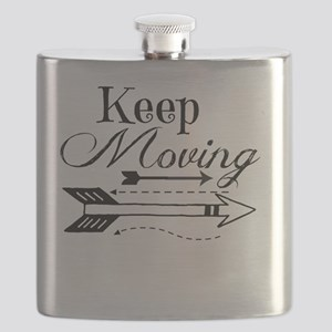 Keep Moving Arrow design Flask