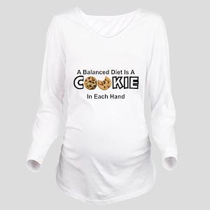 A BALANCED DIET IS A Long Sleeve Maternity T-Shirt