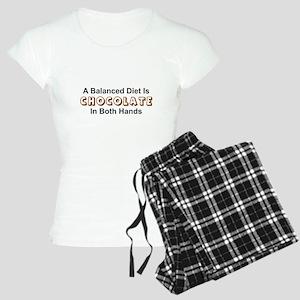 A BALANCED DIET IS CHOCOLAT Women's Light Pajamas