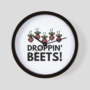 Droppin' Beets! Wall Clock