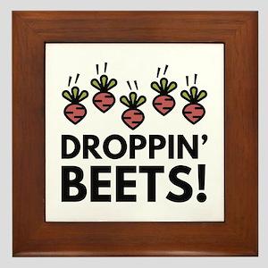 Droppin' Beets! Framed Tile
