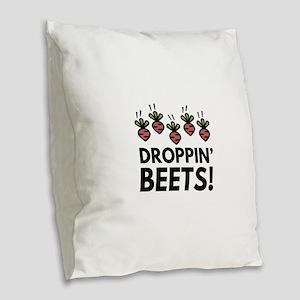 Droppin' Beets! Burlap Throw Pillow
