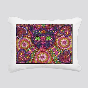 Day of the Dead Cat Rectangular Canvas Pillow