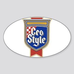 Cro Style Oval Sticker