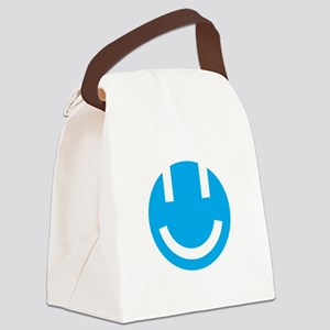 blue smile face clear Canvas Lunch Bag
