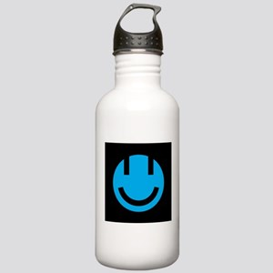 blue smile face black Stainless Water Bottle 1.0L
