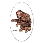 Red Uakari Monkey Oval Sticker