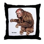 Red Uakari Monkey Throw Pillow