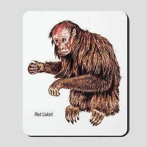 Red Uakari Monkey Mousepad