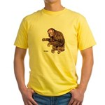 Red Uakari Monkey Yellow T-Shirt