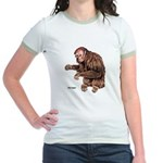 Red Uakari Monkey (Front) Jr. Ringer T-Shirt