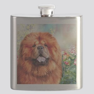 Chow Chow Painting Flask
