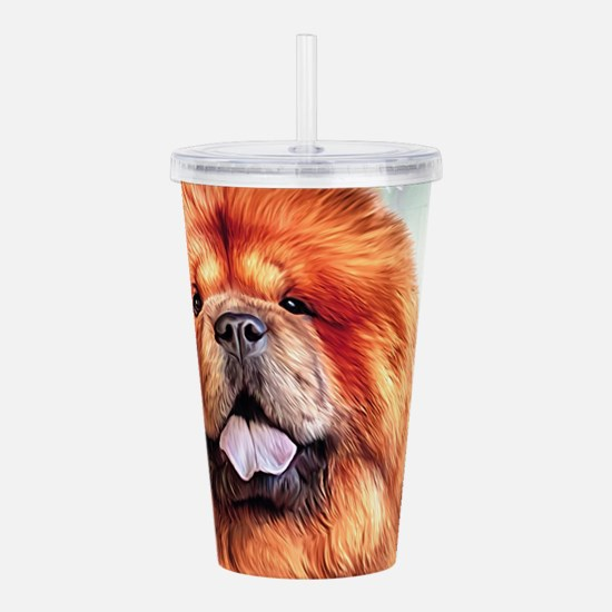 Chow Chow Painting Acrylic Double-wall Tumbler