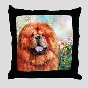 Chow Chow Painting Throw Pillow
