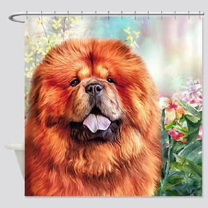Chow Chow Painting Shower Curtain