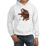 Red Uakari Monkey (Front) Hooded Sweatshirt