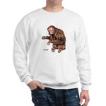 Red Uakari Monkey (Front) Sweatshirt