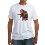 Red Uakari Monkey (Front) Fitted T-Shirt