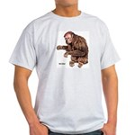 Red Uakari Monkey (Front) Ash Grey T-Shirt