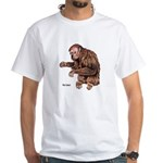Red Uakari Monkey White T-Shirt