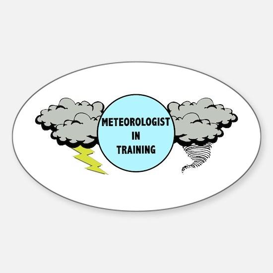 Meteorologist in Training Sticker (Oval)