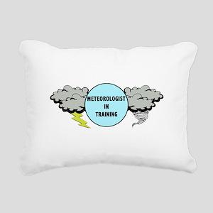 Meteorologist in Trainin Rectangular Canvas Pillow
