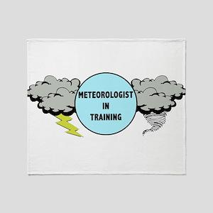 Meteorologist in Training Throw Blanket