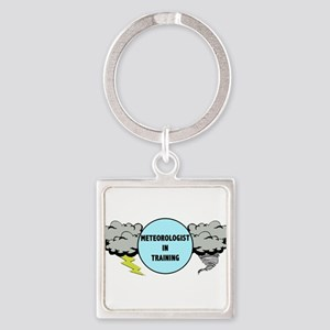 Meteorologist in Training Square Keychain