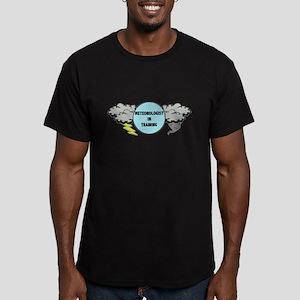 Meteorologist in Train Men's Fitted T-Shirt (dark)