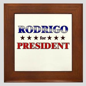 RODRIGO for president Framed Tile