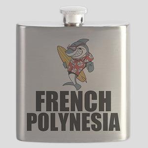 French Polynesia Flask