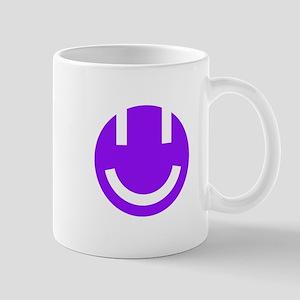 purple smile face clear Mug