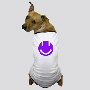 purple smile face clear Dog T-Shirt